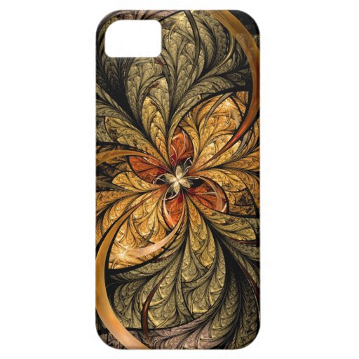 Shining Leaves Fractal Art iPhone 5 Cover