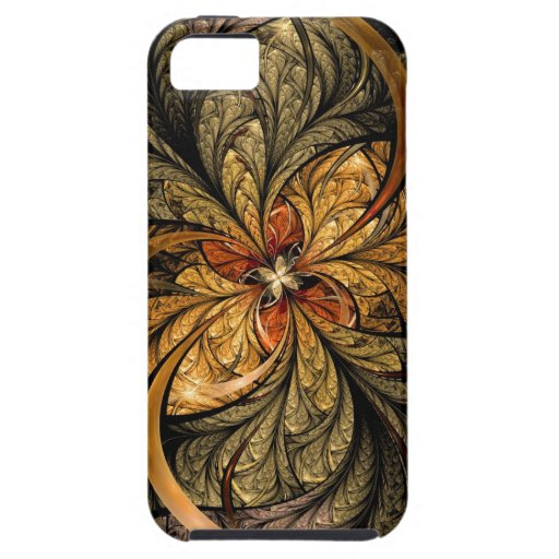 Shining Leaves Fractal Art iPhone 5 Covers