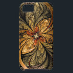 "Shining Leaves Fractal Art iPhone SE/5/5s Case<br><div class=""desc"">Metal look,  shining leaves with the colors of Autumn. Abstract fractal artwork by Liz Molnar 