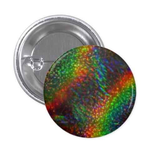 Shining Lights Holographic Glitter Rainbows Pinback Button