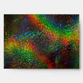 Shining Lights Holographic Glitter Rainbows Envelope