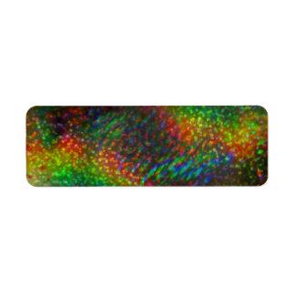 Shining Lights Holographic Glitter Rainbows Label