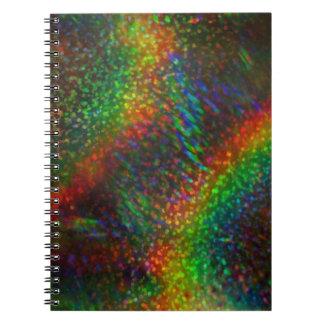 Shining Lights Holographic Glitter Rainbows Spiral Notebook