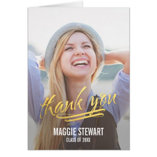 Shining Moment Graduation Thank You Card Cards