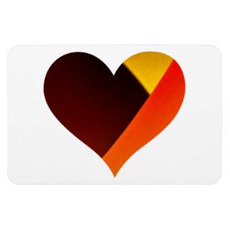 Shining Murano Glass Love Heart Rectangular Photo Magnet