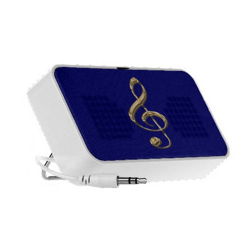 Shining Musical Treble Clef Portable Speakers