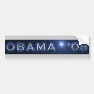 SHINING OBAMA  '08 BUMPER STICKER