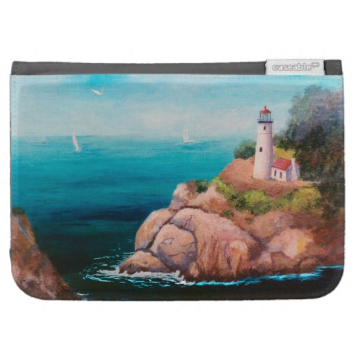 Shining Point Lighthouse Folio Kindle Covers