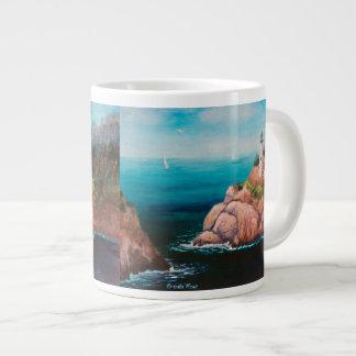 Shining Point Lighthouse Large Coffee Mug