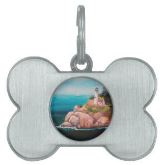 Shining Point Lighthouse Pet Tag