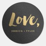 Shining Promise Love Wedding Favor Sticker at Zazzle