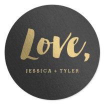 Shining Promise Love Wedding Favor Sticker