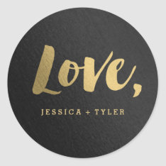 Shining Promise Love Wedding Favor Sticker at Zazzle