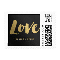"Shining Promise ""Love"" Wedding Postage Stamp"