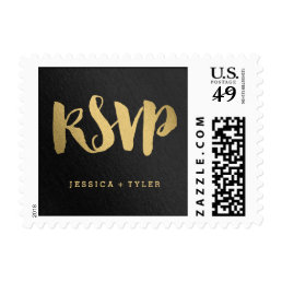 Shining Promise RSVP Wedding Postage Stamp