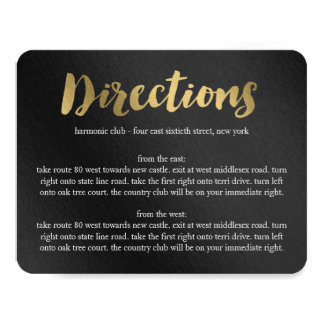 Shining Promise Wedding Directions Card