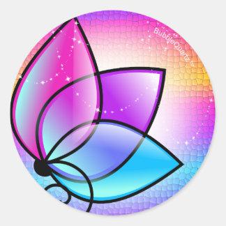 Shining purple flower stickers