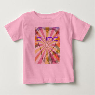 Shining Rainbow Heart Baby T-Shirt