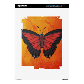 Shining Red Charaxes Butterfly Skins For iPad 3