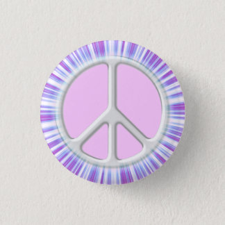 Shining Silvery Symbol of Peace Button