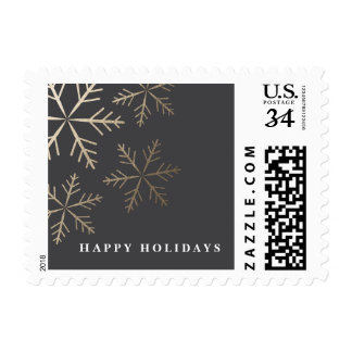 Shining Snowflake Faux Foil Holiday Postage Stamp