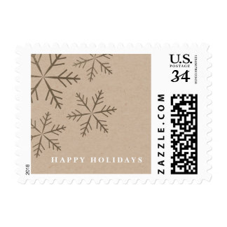 Shining Snowflake | Holiday Postage Stamp