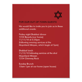Shining Star Bar / Bat Mitzvah Enclosure Card