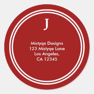 Shining Star Bar/Bat Mitzvah Monogram Stickers
