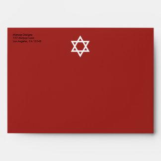 Shining Star Bar/Bat Mitzvah Red Envelope