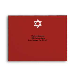 Shining Star Bar/Bat Mitzvah RSVP Envelope