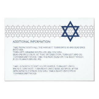Shining Star Bar Mitzvah Blue Enclosure Card