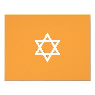 "Shining Star Bar Mitzvah Blue RSVP Card 4.25"" X 5.5"" Invitation Card"
