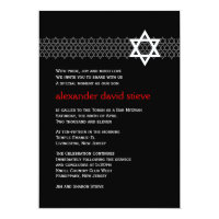 Shining Star Bar Mitzvah Invitation
