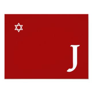 Shining Star Bar Mitzvah Monogram RSVP Card