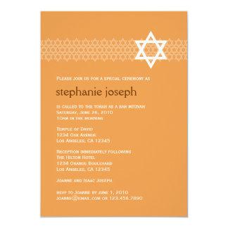"Shining Star Bat Mitzvah Invitation 5"" X 7"" Invitation Card"