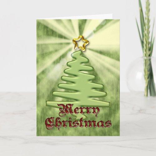 Shining Star Contemporary Christmas Card card