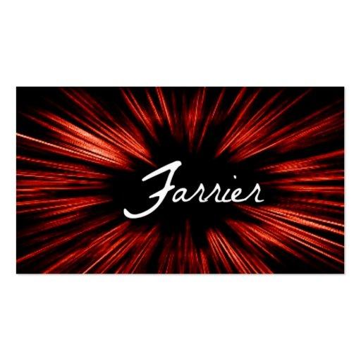 Shining Star Farrier Business Card