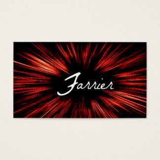 Shining Star Farrier Business Card