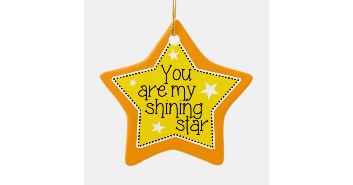 Shining Star Love, Family, and Friends-Christmas Ceramic Ornament | Zazzle.com
