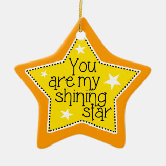 Shining Star Love, Family, and Friends-Christmas Double-Sided Star Ceramic Christmas Ornament