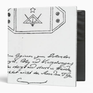 Shining star over square and Compass and lead Binder