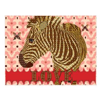 Shining Star Zenya Golddust Butterflies Pink Lo Post Card
