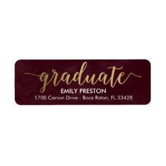 Shining Strong Editable Color Graduation Label