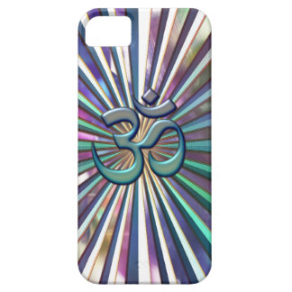 Shining Sunburst OM on Tie-Dye Case for iPhone