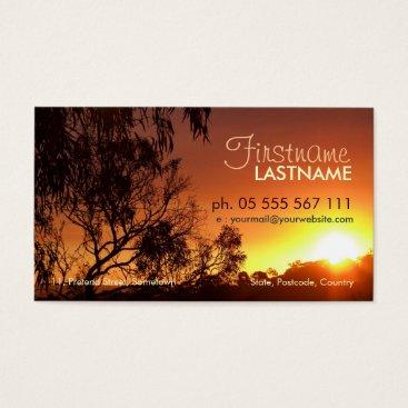 Shining Sunset Business Card