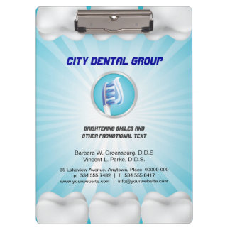 Shining Teeth Dentist Clipboards
