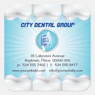 Shining Teeth Dentist Square Sticker