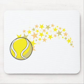 Shining Tennis Ball Star Mouse Pad