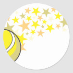 Shining Tennis Ball Star Stickers