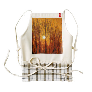 Shining through a thick atmosphere zazzle HEART apron